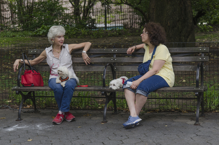 conversation in Central Park