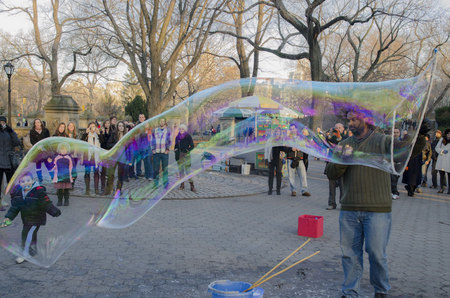Blowing Bubbles in Central Park