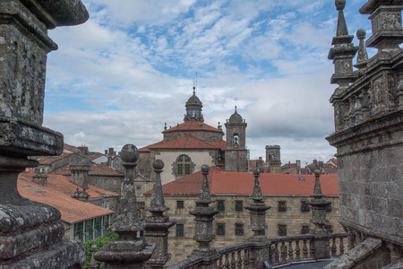 View from the roof top of Cathedral in Santiago de Compostela