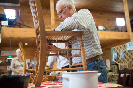 Crafts, Caning a Chair, Dutchess County Fair