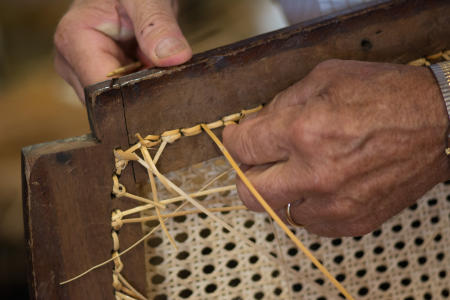 Crafts, Caning Chair Seat, Dutchess County Fiar