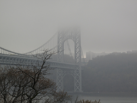 George Washington Bridge in fog