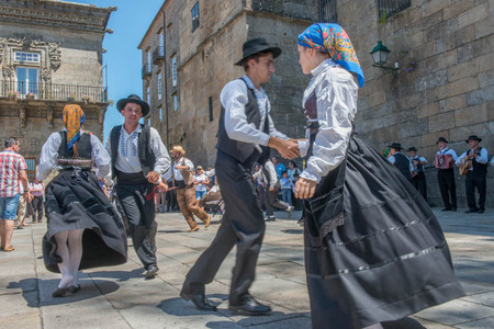 Traditional folk dances of Galicia.