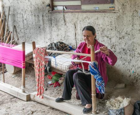 Master Weaver in village near Cuenca, Ecuador