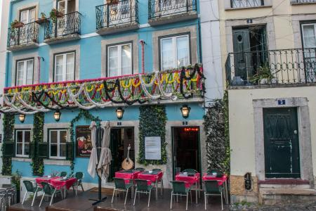 Lisbon Old Town Cafe and Fado music