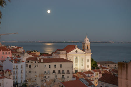 Moon Rising, Lisbon, Portugal