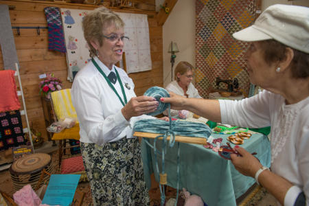 Crafts, twisting wool, Dutchess County Fair
