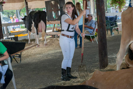 Girl in stables