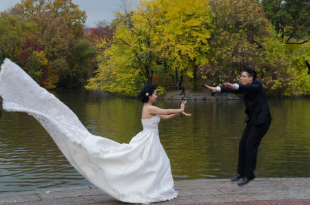 Central Park, Boathouse Lake, Bethesda Terrace, Wedding