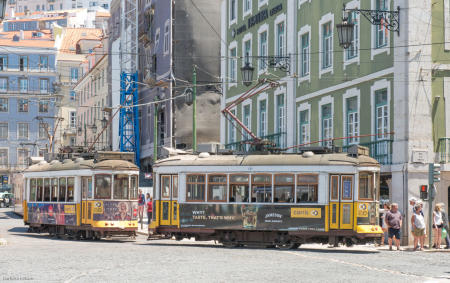 Lisbon's famed trams and funiculars