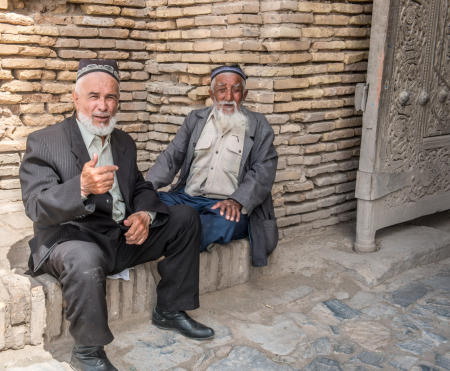 Elder men in Khiva